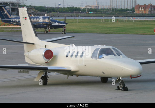 Private business jet - Stock Image