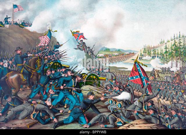 Battle of Franklin - USA Civil War - Fought November 30, 1864 - Stock Image