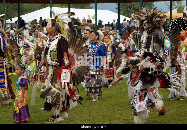 Traditional Pow Wow, Fort Berthold - Stock Image