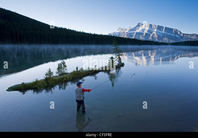Angler stock photos angler stock images alamy for Fishing in banff