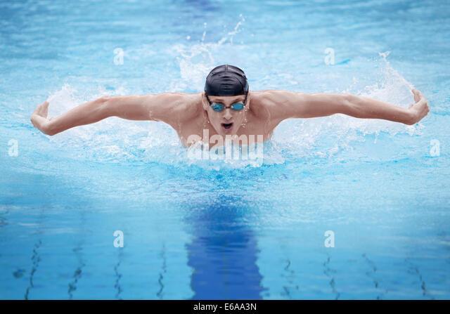 sports,fitness,swim,swimmer,swimming,butterfly - Stock-Bilder