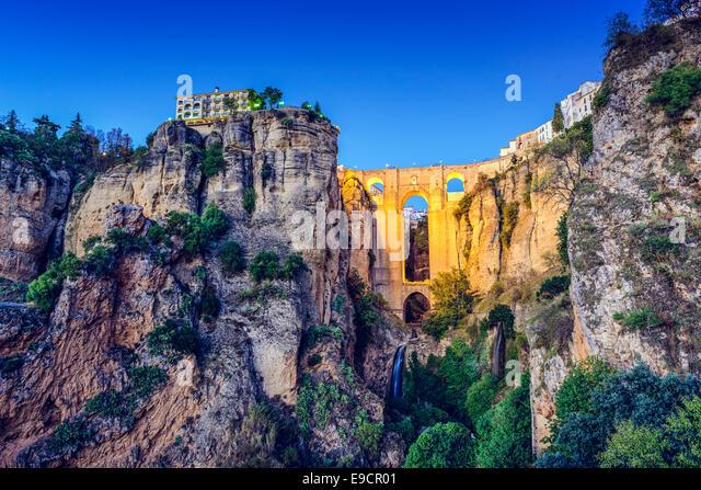 Ronda, Spain at Puente Nuevo Bridge. - Stock Image