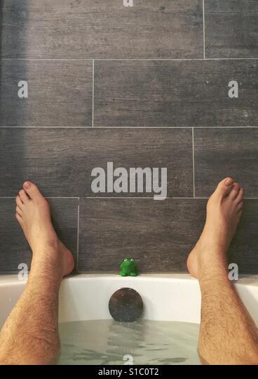Taking a bath - Stock-Bilder