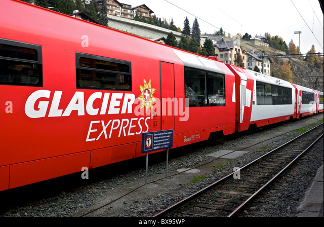 glacier express train stock photos glacier express train stock images alamy. Black Bedroom Furniture Sets. Home Design Ideas