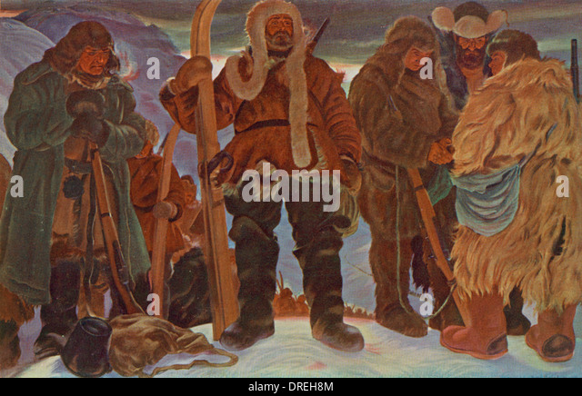 A group of Siberian revolutionaries, Russia - Stock Image