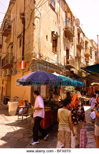 Palermo food market, Sicily - Stock Image