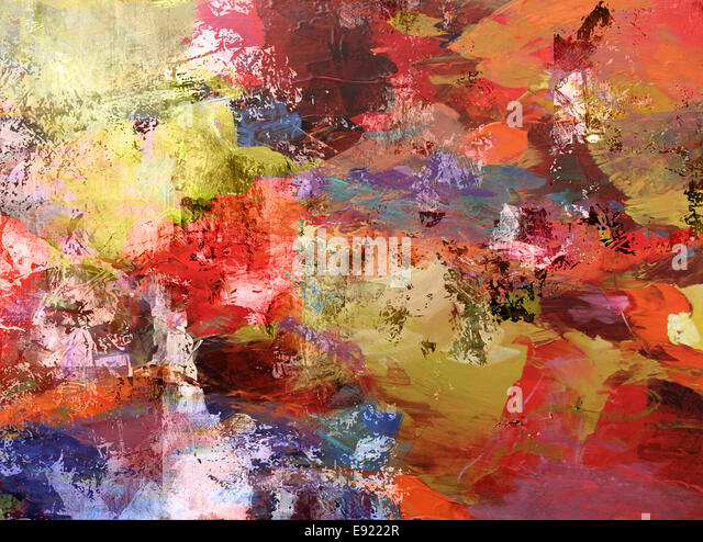 colorful abstract painting - Stock Image