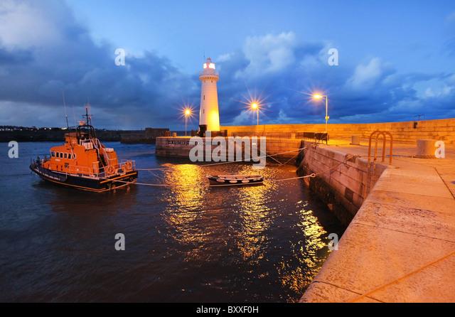 Donaghadee Lighthouse, County Down. Northern Ireland. - Stock Image