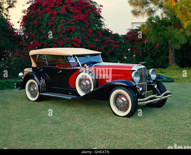 1930 Duesenberg Model J dual cowl sweep panel sports phaeton Country of origin United States - Stock Image