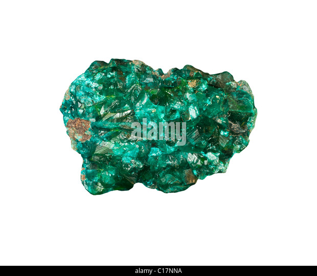 Dioptase from French Congo - Stock-Bilder