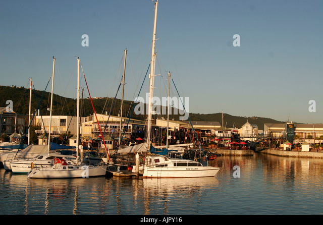 south africa garden route Knysna harbor destination - Stock Image