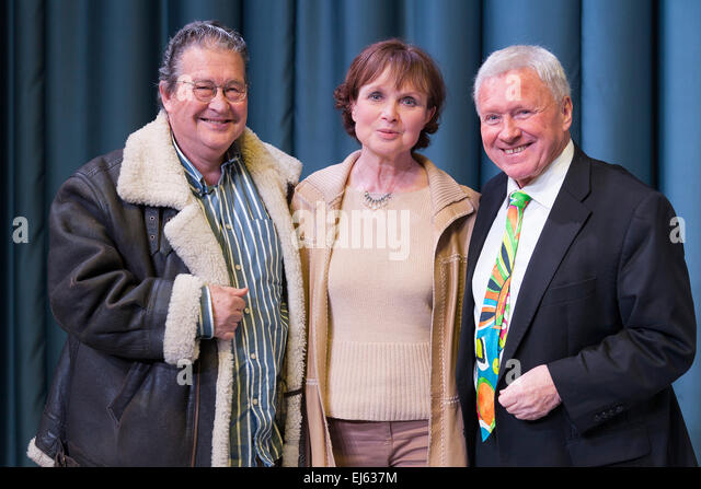 Walsall, West Midlands, UK. 22 March 2015. Clive Doig British television producer director (L) with Madeline Smith - Stock Image