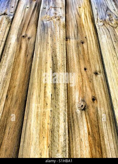 wooden Fence - Stock Image