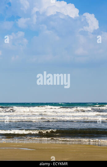 Beach, Sea and sky, Cyprus - Stock Image