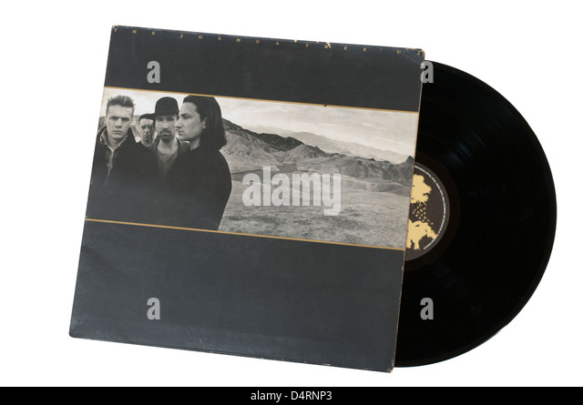 U2 The Joshua Tree Vinyl Record LP - Stock Image