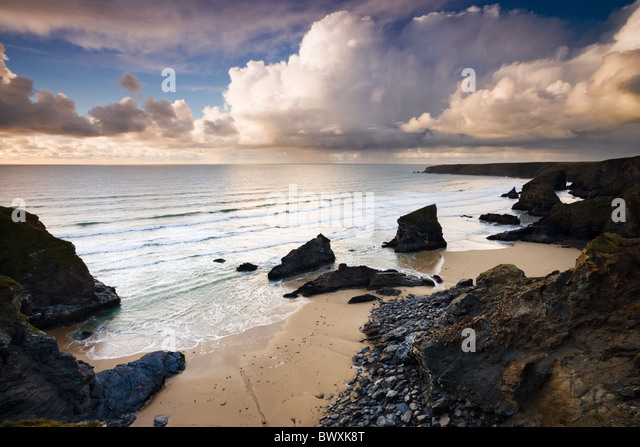 Bedruthan Steps, Cornwall, UK - Stock-Bilder