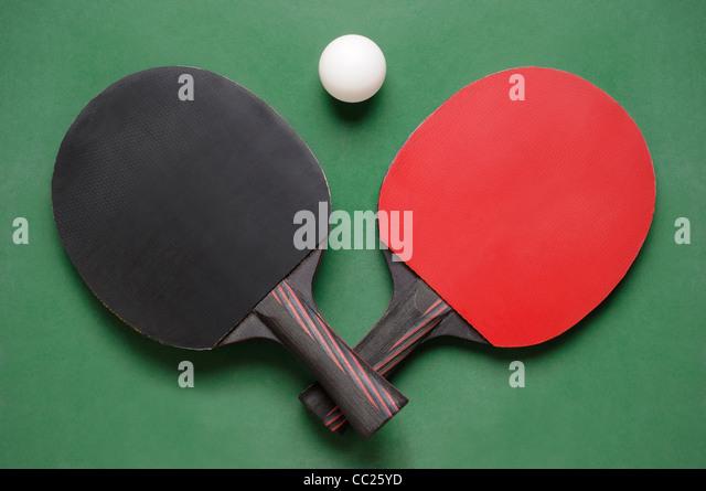 Table Tennis Bats - Stock Image