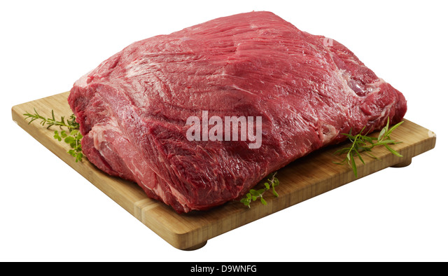 raw beef chuck roll - Stock Image