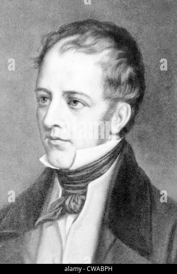Frederick Marryat (1792-1848) English novelist of seafaring adventures, including 'The King's Own' (1830), - Stock Image