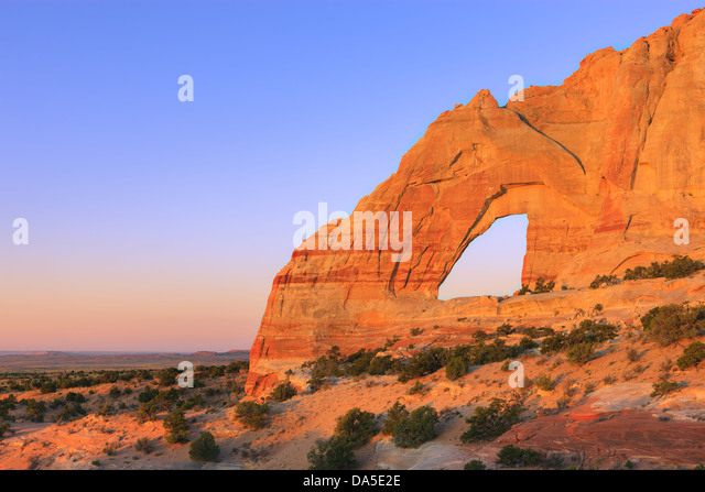 White Mesa Arch, in the north eastern part of Arizona, USA - Stock-Bilder