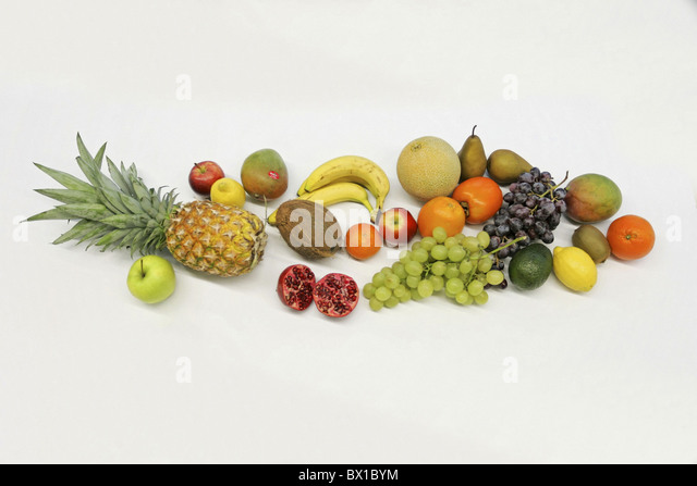 fruit different still still life food healthy vitamins studio food - Stock Image