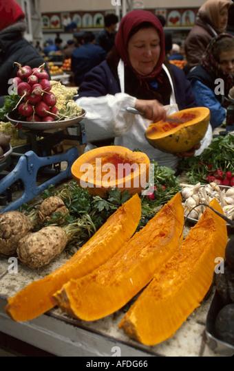 Ukraine Kiev Bessarabka Covered Market produce from Brovari - Stock Image