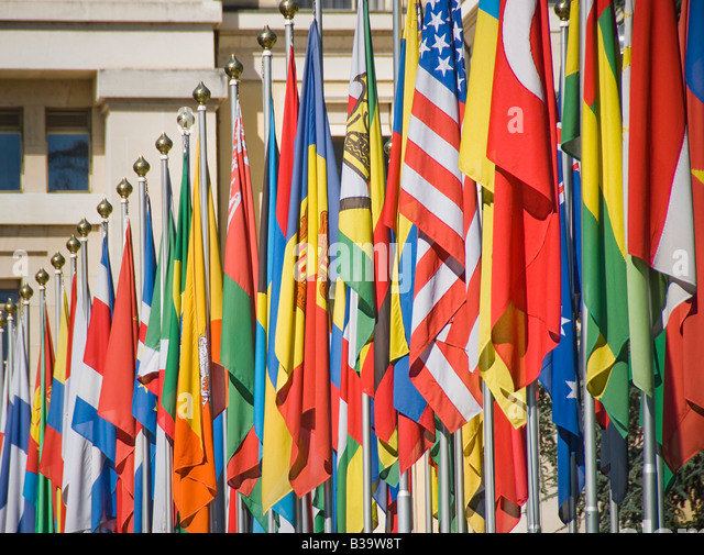 Flags of many nations outside the UN - Stock-Bilder