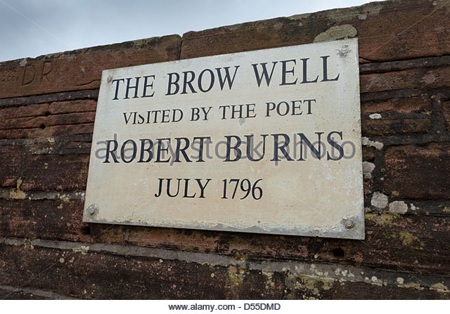 The Brow Well, near Ruthwell, Dumfries & Galloway.  Visited by the poet Robert Burns shortly before his death. - Stock Image