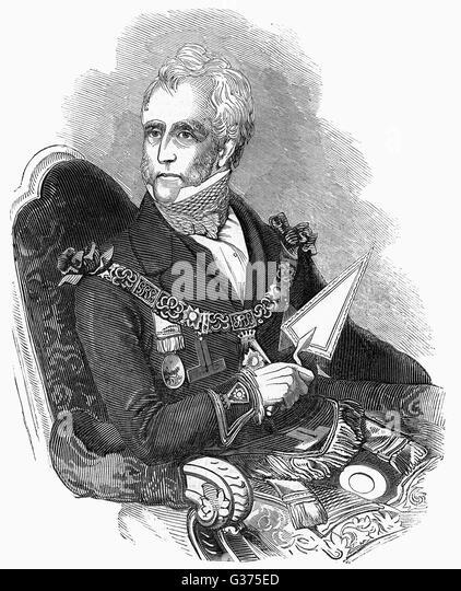 THOMAS DUNDAS, second earl of  ZETLAND prominent Freemason        Date: 1795 - 1873 - Stock Image