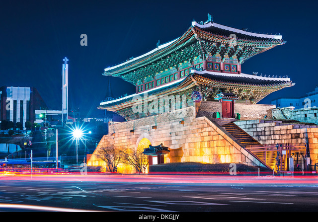 Seoul, South Korea at Namdaemun Gate. - Stock Image