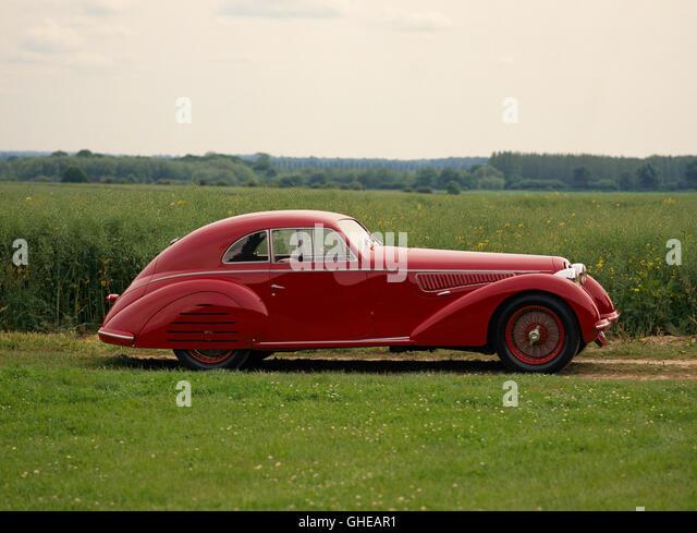 1939 Alfa Romeo 8C 2900B Lungo Berlinetta 3 0 litre supercharged Inline 8 engine developing 180bhp Country of origin - Stock Image