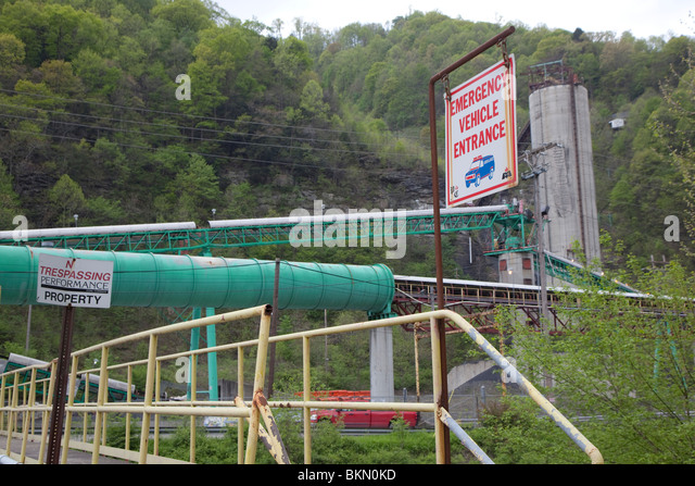 Upper Big Branch Coal Mine, Site of Explosion that Killed 29 Miners - Stock Image