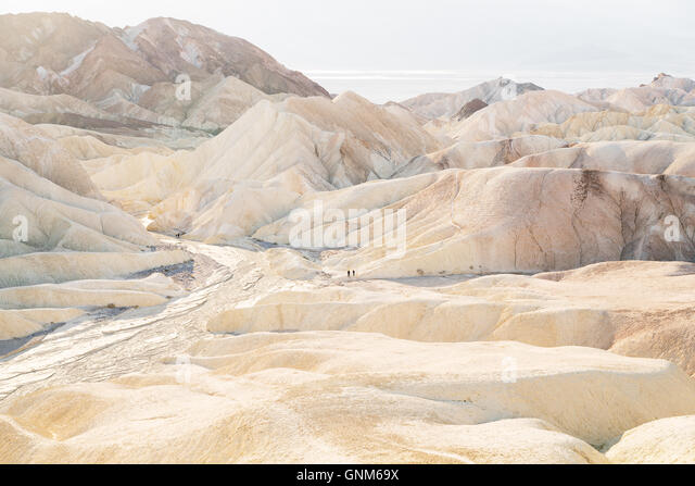 Zabriskie Point in Death Valley National Park - Stock Image