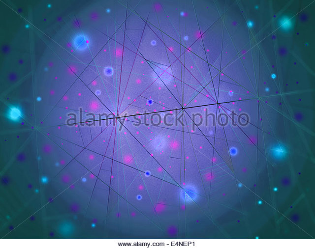 Abstract backgrounds pattern of glowing blurry dots and network of lines - Stock Image