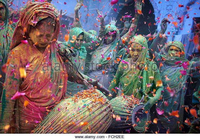 Holi celebrations in India - color colors - Stock Image