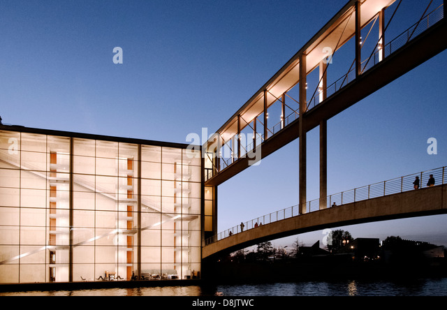 Paul Loebe house in the evening, Berlin, Germany - Stock Image
