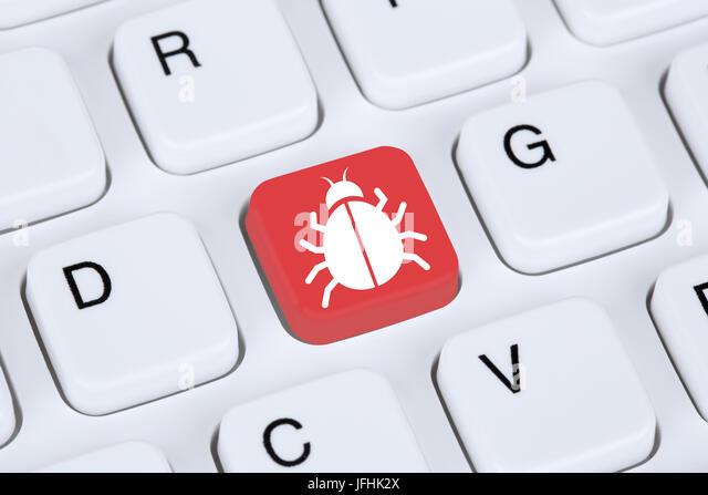 Computer Virus oder Trojaner Sicherheit im Internet surfen - Stock Image