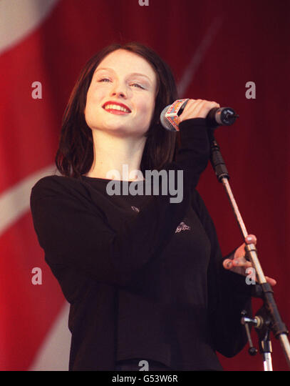 Singer Sophie Ellis Bextor, performing with Spiller on stage at the BRMB Party in the Park at the Alexander Stadium, - Stock Image