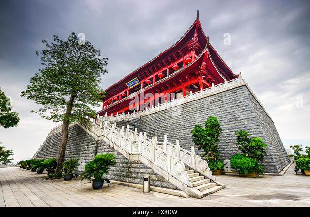 Fuzhou, China at the historic Zhenhai Tower. - Stock-Bilder