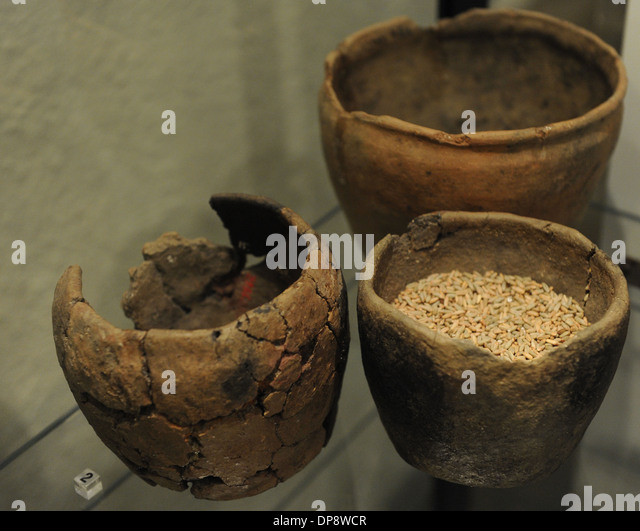 Prehistory. Finland. Europe. Pottery of the Iron Age. The National Museum of Finland. Helsinki - Stock-Bilder