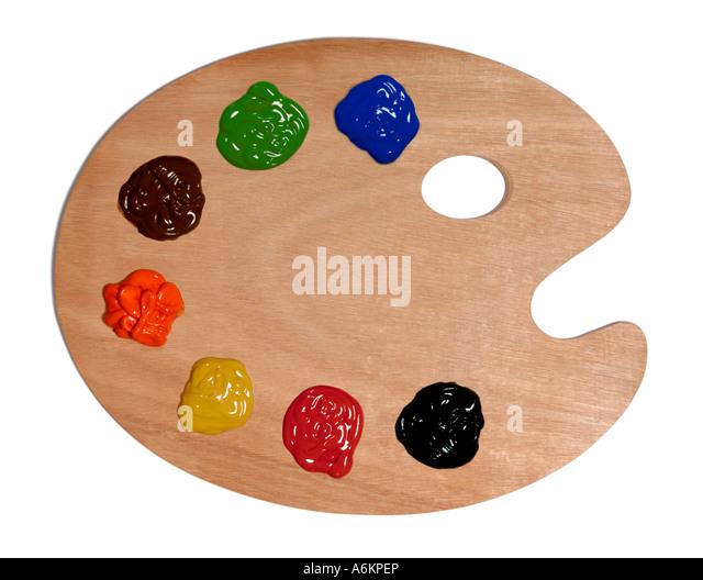 Artist palette - Stock Image