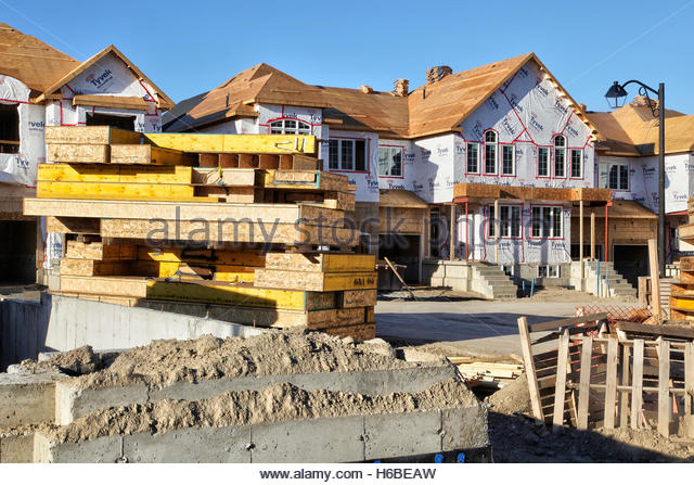 Detached houses canada stock photos detached houses for Building a house in ontario