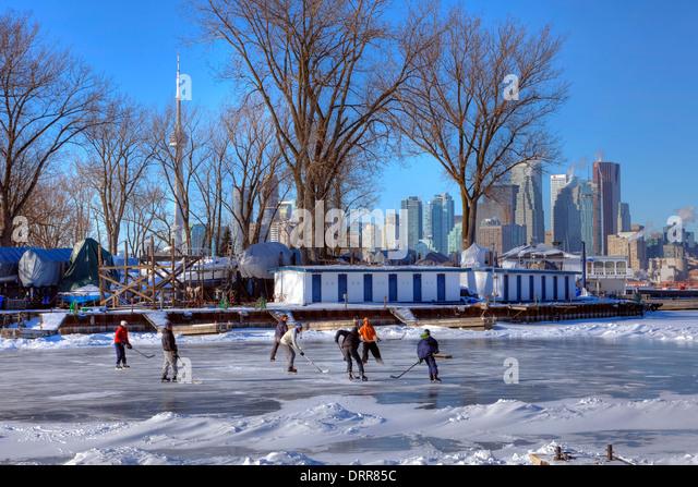 ice hockey, Toronto, Ontario, Canada - Stock Image