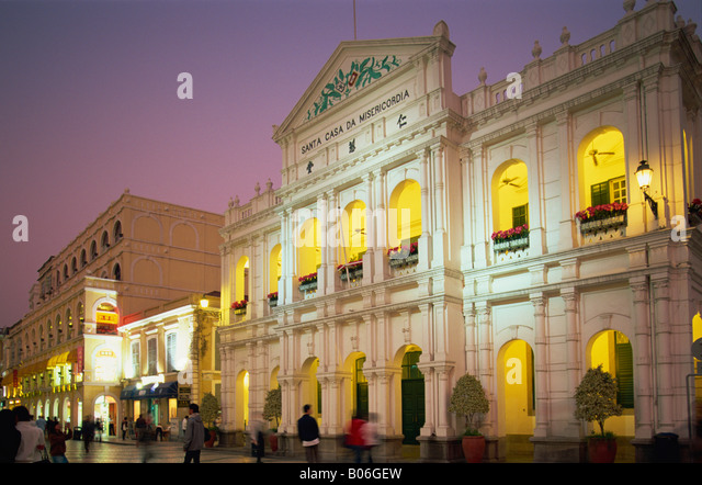 China, Macau, Senado Square, Santa Casa de Misericordia Holy House of Mercy - Stock Image