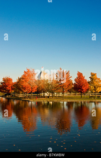 Bassin Bonsecours in Old Montreal during the Autumn season - Stock Image
