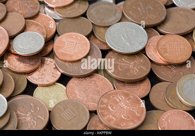Lots of coins - Stock Image