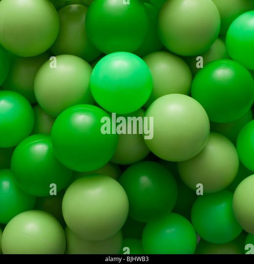Green balls - Stock Image