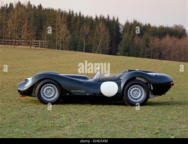 1959 Lister Jaguar 3 8 litre racing 2 seater Country of origin United Kingdom - Stock Image