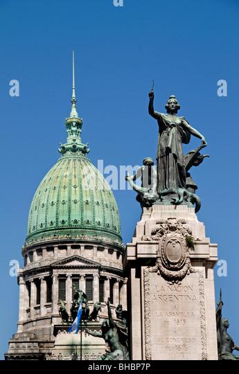 Palacio del Congreso Congress Building Buenos Aires government Monserrat Argentina - Stock Image