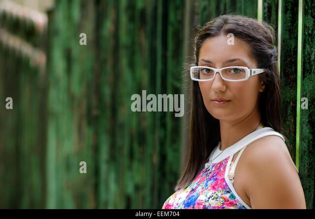 Bulgaria, Portrait of teenage girl (14-15) - Stock Image